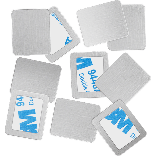 Square Metal Stickers Produktbild productfrontviewfullopen L