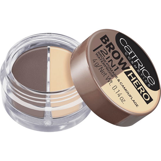 Brow Hero 2in1 Brow Pomade & Camouflage Waterproof Produktbild productfrontviewhalfopen L