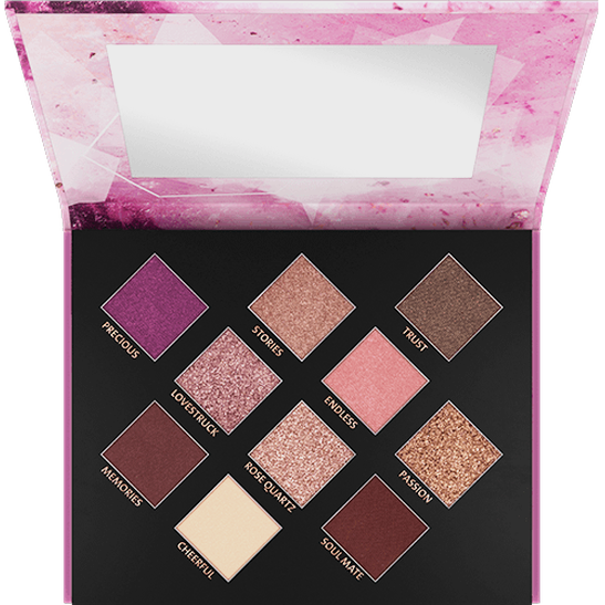 Crystallized Rose Quartz Eyeshadow Palette Produktbild productfrontviewfullopen L
