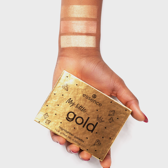 Royal Party INT My little gold highlighter palette Produktbild swatchdark L