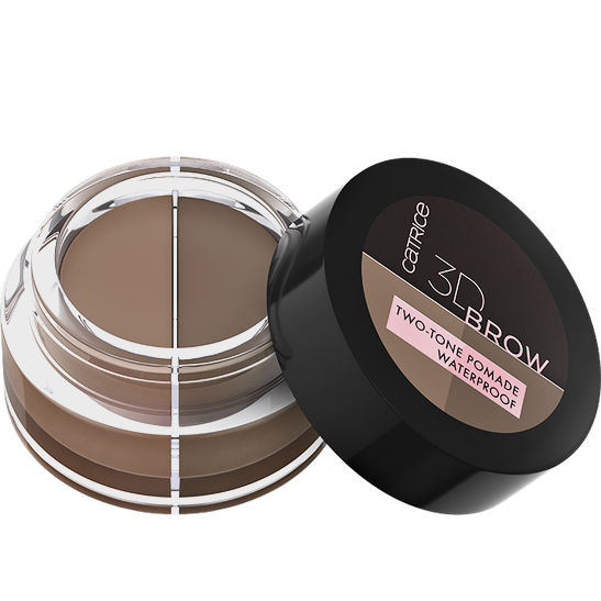 3D Brow Two-Tone Pomade Waterproof Produktbild productfrontviewhalfopen L