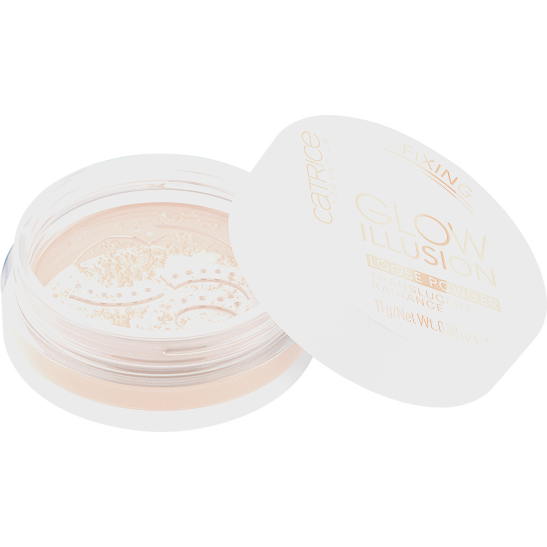 Glow Illusion Loose Powder Produktbild productfrontviewhalfopen L