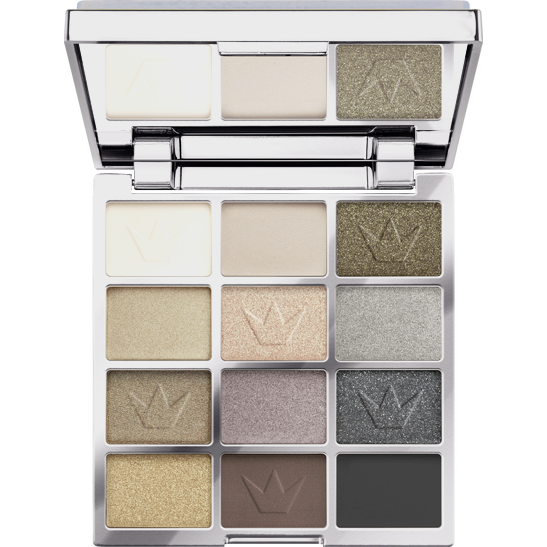 Royal Party Silver glitter show eyeshadow palette  Produktbild productfrontviewfullopen L
