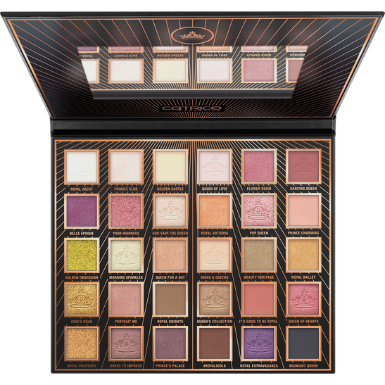 Royal Party Royal Idols 30 Colour Eyeshadow Palette Produktbild productfrontviewfullopen L