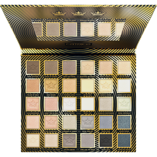 Royal Party Golden Crowns 30 Colour Eyeshadow Palette Produktbild productfrontviewfullopen L