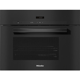 DG 2840 VitroLine Obsidian Black Built-in Steam oven product photo