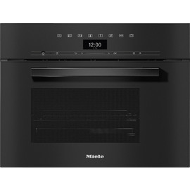 DG 7440 VitroLine Obsidian Black Built-in steam oven product photo