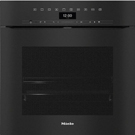 H 7464 BPX Handleless ArtLine Obsidian Black Pyrolytic oven product photo