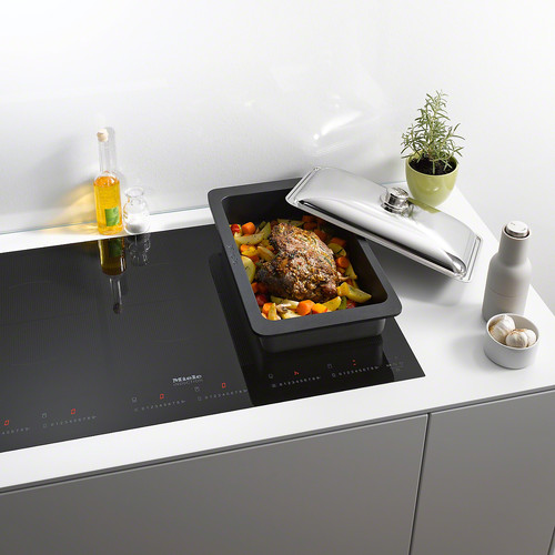 KM 6367-1 Induction cooktop with onset controls product photo Laydowns Back View L