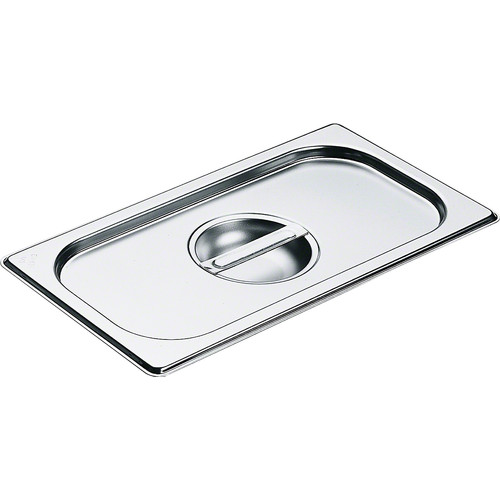 DGD 1/3 Stainless steel lid with handle product photo Front View L