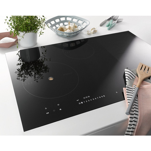 KM 6839 Induction hob with onset controls product photo Laydowns Back View L