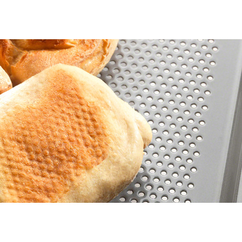 HBBL 60 Perforated gourmet baking tray product photo Laydowns Back View L