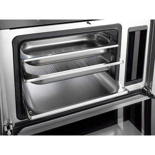 DGG 17 Unperforated steam cooking container product photo Laydowns Back View L