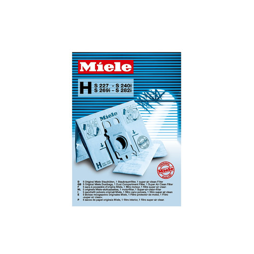 SB H Genuine Miele H dustbags product photo Front View L