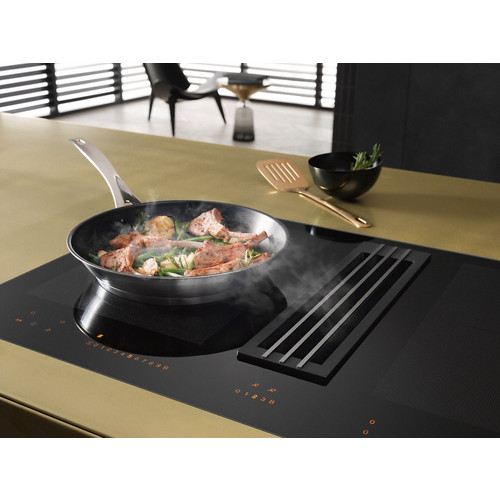 KMDA 7774 FL Cooktop with integrated extractor product photo Back View L