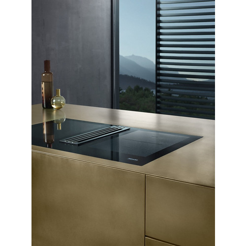 KMDA 7774 FL Cooktop with integrated extractor product photo Laydowns Detail View L