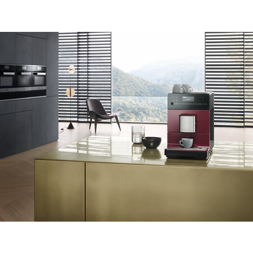 CM 5300 Tayberry Red Benchtop Fresh Bean Coffee Machine product photo Back View L