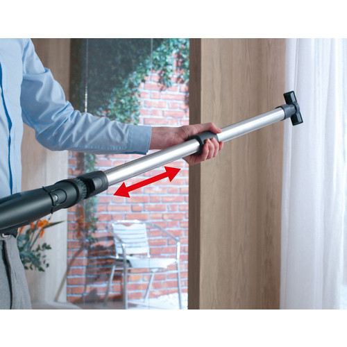 Blizzard CX1 Graphite Bagless vacuum cleaner product photo Laydowns Back View L