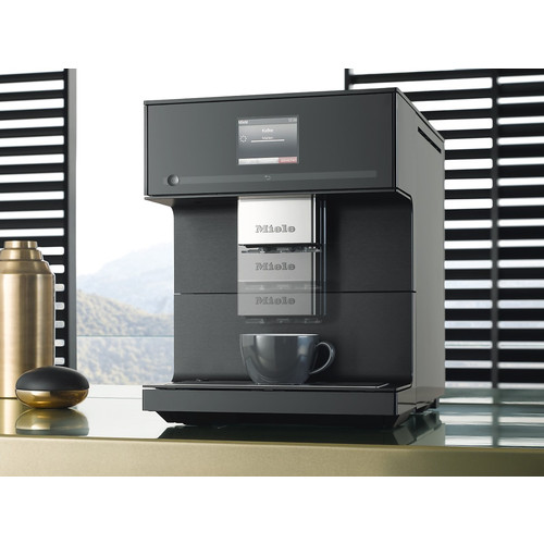 CM 7750 Benchtop coffee machine - Obsidian Black product photo Back View L