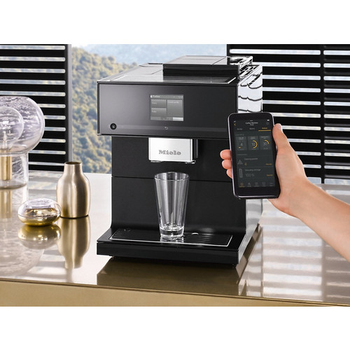 CM 7750 Benchtop coffee machine - Obsidian Black product photo Laydowns Back View L