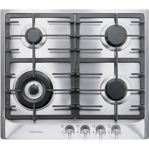 KM 362-1 G Stainless Steel Gas Cooktop product photo Front View L