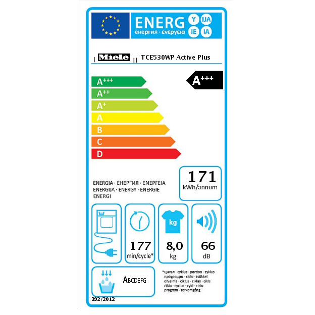 TCE530WP Active Plus T1 džiovyklė su šiluminiu siurbliu product photo Energysaving energysaving