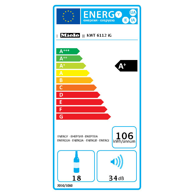 KWT 6112 iG Integreeritav veinikapp product photo Energysaving energysaving