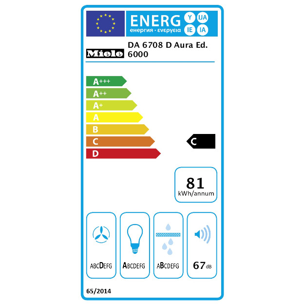 DA 6708 D Aura Ed. 6000 Otočna napa product photo Energysaving energysaving