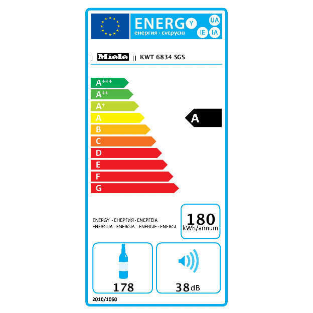 KWT 6834 SGS Prostostoječa vinska vitrina product photo Energysaving energysaving