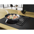 KMDA 7633 FL Induction Cooktop with Integrated Downdraft Extractor product photo Back View S