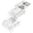 G 5481 SCVi SL Active Fully integrated dishwasher 45cm product photo Back View S