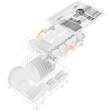 G 5430 SCi SL BRWS Active Integrated dishwasher, 45 cm product photo Back View S