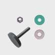 Miele Washing Machine Foot - Spare Part 00233801 product photo