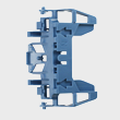 Miele Vacuum Bracket - Spare Part 06081322 product photo Back View S