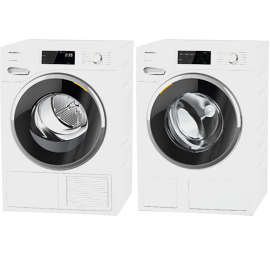 Laundry Set: WWG660 WCS TDos&9kg washing machine & TWF640 WP EcoSpeed&8kg tumble dryer product photo