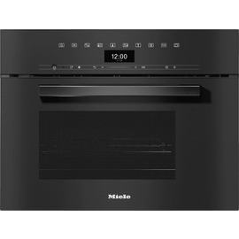 DGM 7440 VitroLine Obsidian Black Steam oven with microwave product photo