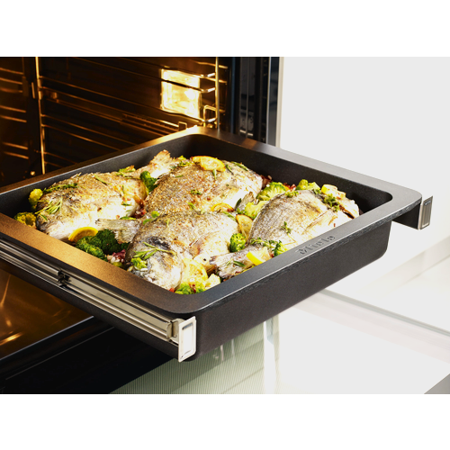 HUB 5001-XL Large Induction Gourmet Casserole Dish product photo Back View L