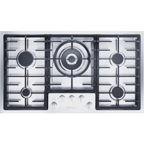 KM 2354 G Stainless Steel Gas Cooktop product photo Front View L