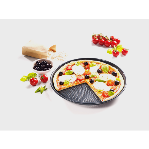 HBFP 27 Round Perforated Baking Tray product photo Back View L
