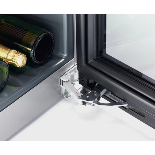 KWT 6833 SG Freestanding wine conditioning unit product photo Laydowns Back View L