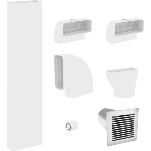 DFKS-A Flat ducting set for extraction mode (incl. wall vent) product photo Front View L