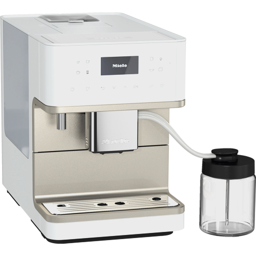 CM 6360 MilkPerfection Lotus White Benchtop coffee machine product photo Laydowns Detail View L