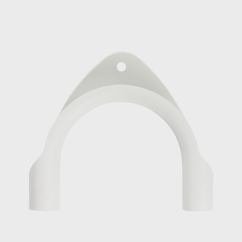 Miele Washing Machine Drain Elbow - Spare Part 09037692 product photo Front View L