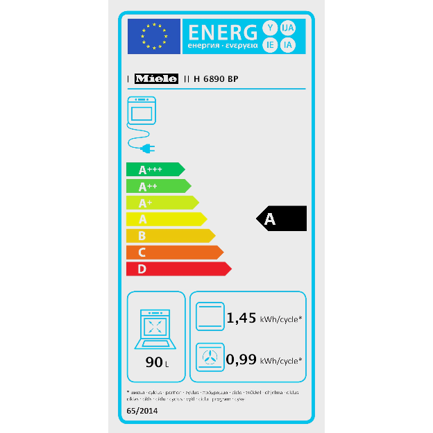 H 6890 BP 90 cm küpsetusahi / Originaalhind: 6,559.00 EUR product photo Energysaving energysaving