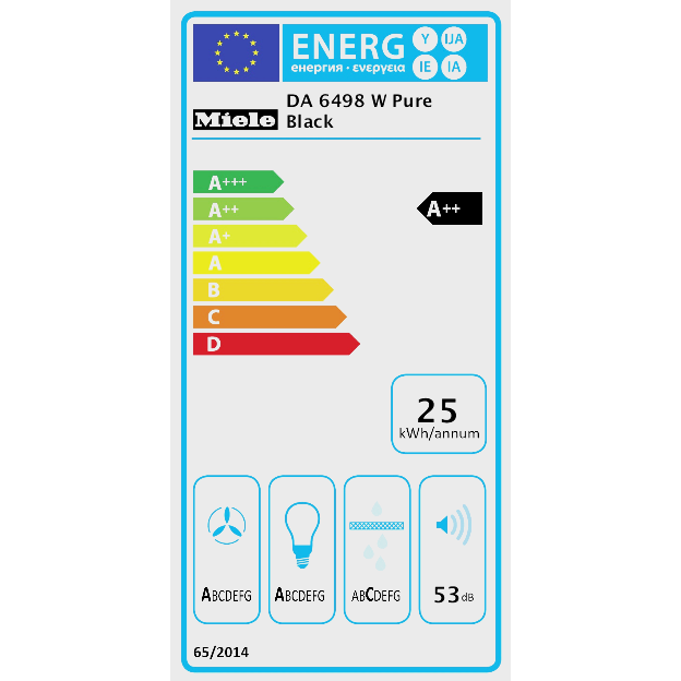 DA 6498 W Pure Black Stenska napa product photo Energysaving energysaving