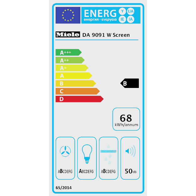 DA 9091 W Screen Stenska napa product photo Energysaving energysaving